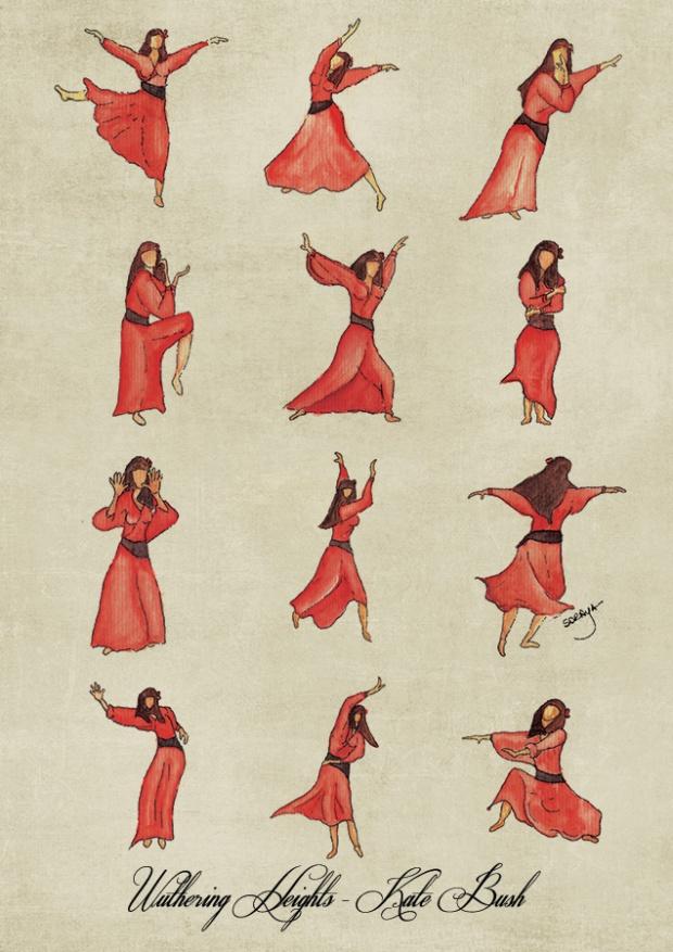 ilustração música soraya pamplona aquarela kate-bush-wuthering-poster-web-beige