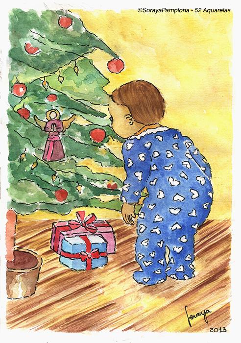 ilustração natal soraya pamplona aquarela