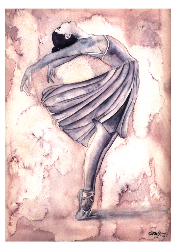 soraya pamplona ilustração aquarela serie ballet-02